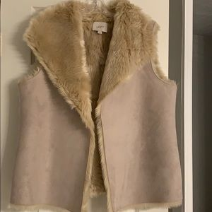 Loft- Reversible Synthetic Fur and leather Vest